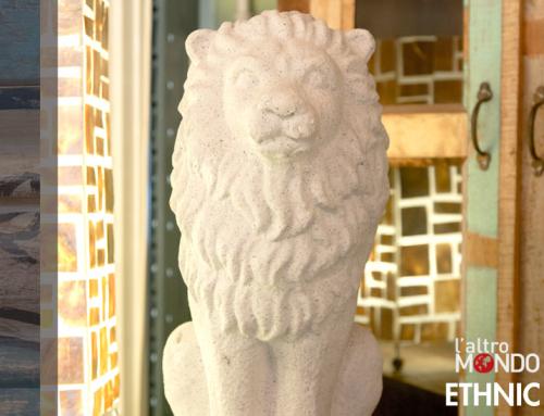 Statua leone in pietra